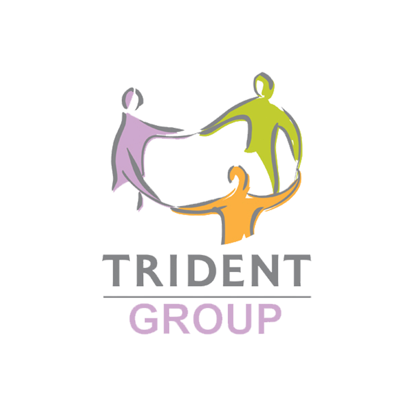 B Trident logo